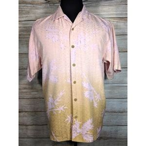 Tommy Bahama Pink Silk Hawaiian Button Camp Shirt
